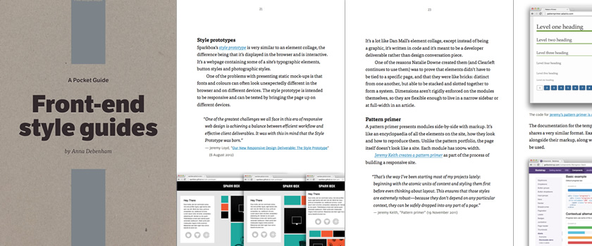 Picture of front-end style guides pocket guide.